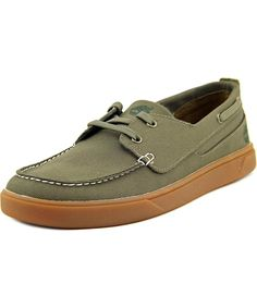TIMBERLAND TIMBERLAND EK GROVETON BOAT MEN  MOC TOE CANVAS GREEN BOAT SHOE'. #timberland #shoes #oxfords