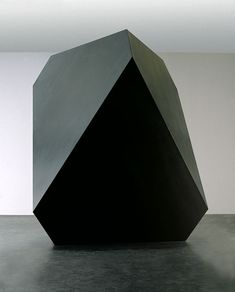 Carsten Nicolai, Anti, 2004.  Regular geometric forms represent systematic thinking and the interrelationship between mathematics, optics, art and philosophy. anti is a geometrical form, a distorted cube, truncated on top and bottom to obtain rhombic and triangular faces.