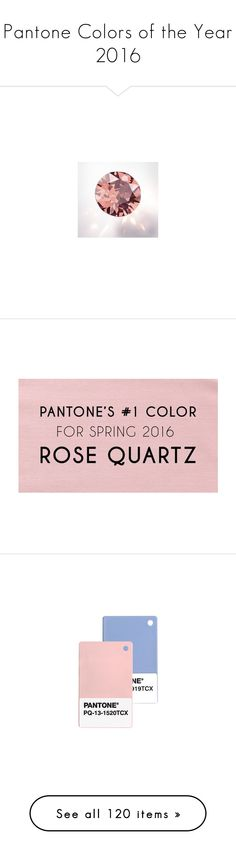 """Pantone Colors of the Year 2016"" by pinkredandviolet ❤ liked on Polyvore featuring rose, serenity, pantone, beauty products, makeup, eye makeup, tops, jewelry, rings and 18k ring"