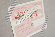 Baby Shower Invitation  Printable  Pink Bouquet by PaperAndPip, $18.00