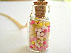 Dainty Sprinkle Glass Bottle Necklace - Simple & Summery on Etsy, $11.90 CAD