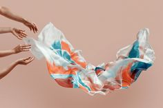 Silk Scarves Captured by Mikel Muruzabal Trendland Online Magazine Curating the Web since 2006 Fabric Photography, Clothing Photography, Fashion Photography, Product Photography, Conceptual Photography, Advertising Photography, Creative Photography, Photography Ideas, Silk Image