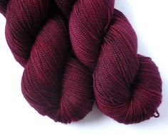 Hand Dyed Yarn - Merino / Cashmere / Nylon Sock Weight - Ausable Sock in Cranberry Bog Colorway