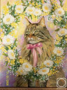 Стеблева Алла. Парадный портрет кошки