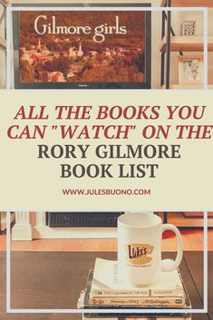 """Get all the books you can """"watch"""" (as movies or tv) on the Rory Gilmore Book List & a free PDF to track your Gilmore Girls reading challenge. Take a mental trip to Stars Hollow and beyond and join our Rory Gilmore Book Club. Click for the full list. Gilmore Girls Books, Rory Gilmore, Book Challenge, Reading Challenge, Reading Lists, Book Lists, List Of Lists, Book Club List, Reading Goals"""