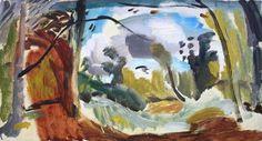 Brackenfield Frank Auerbach, Landscape Art, Landscape Paintings, Landscapes, Paint Photography, Great Paintings, Sculpture, Art Images, Art Drawings