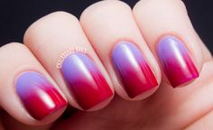 Fashion hits of the season - with the effect Ombre manicure. The unconventional, stylish, lively - he won the hearts of many fashionistas. The effect is a smooth transition from one color to another -