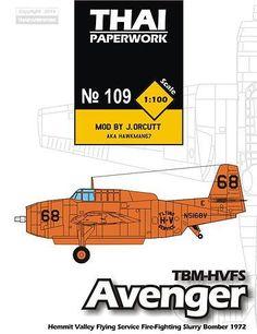 Grumman TBM-HVFS Avenger Torpedo Bomber Free Aircraft Paper Model Download…