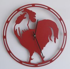 ClockRooster Solid steel metalwall mounted by MichaelsMetalArt, $39.00