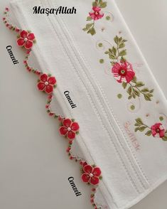 Flower Embroidery Designs, Crochet, Lace, Instagram, Flowers, Bath Linens, Dish Towels, Farmhouse Rugs, Embroidered Towels