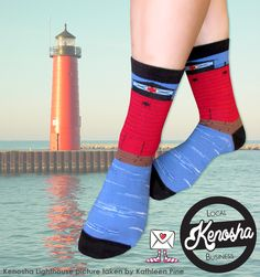 Sock Grams is a local Kenosha business that strives for the best gift giving experience possible! Check out our own Kenosha Pierhead Lighthouse socks and #buylocal!