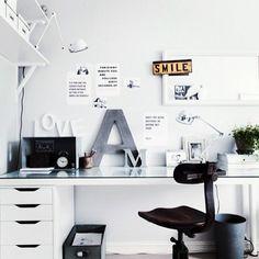 desk space. monochrome.