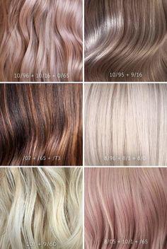 Hair Color Brush, Hair Color And Cut, Wella Hair Toner, Hair Color Names, Hair Color Swatches, Pelo Multicolor, Hair Color Formulas, Colored Hair Tips, Hair Secrets