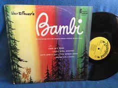 RARE Vintage Walt Disney Bambi Original Motion by sweetleafvinyl