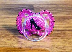 Bling pacifier for a little diva baby girl!  by MiaBellaGemBoutique on Etsy