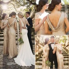 Popular Mermaid Cap Sleeve Champagne Gold Sequin Long Bridesmaid Dresses for Wedding Party, WG84 The long bridesmaid dresses are fully lined, 4 bones in the bodice, chest pad in the bust, lace up back