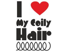 i love my coily hair http://www.blackhairinformation.com/t-shirts/i-love-my-coily-hair/