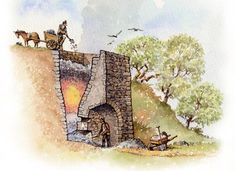 Paint the Past Archaeological and Historical Reconstruction and Illustration Prehistoric Sites Medieval Life, Medieval Fantasy, Historical Architecture, Ancient Architecture, Fantasy City, Garden Types, Dark Ages, Cartography, Middle Ages