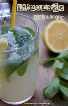 Limonade libanaise a la menthe et fleur d'oranger