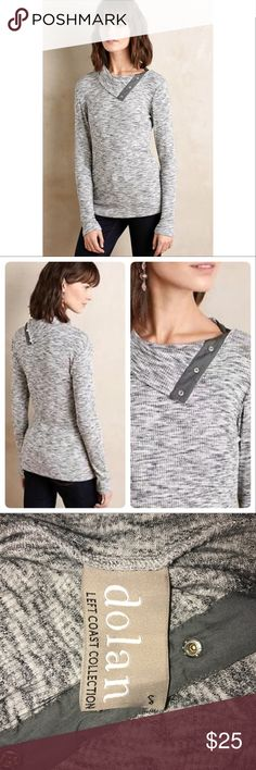 960b4eef048 Anthropologie Dolan Snap Turtleneck Size Small Rayon, spandex, polyester  knit Snap detail at neck Dry clean Imported Dimensions Regular:  Anthropologie Tops ...