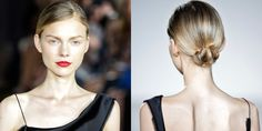 """The Look: Black Tie Chic How-To: Zac Posen is not one for big surprises. Drama, yes, and lots of it, but when it comes down to the silhouettes, the fabrics, the beauty, you pretty much know exactly what to expect. And season after season, it all still feels so right. This time, he asked hair and makeup to take the elements he loves—red lips, highlighted skin, low buns, ponytails and loose waves—and divide them among the models. """"It's all about individuality,"""" said Odile Gilbert, who """"molded…"""