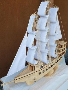 Boat Crafts, Water Crafts, Crafts Beautiful, Beautiful Hands, Front Wall Design, Ship Craft, Buddha Wall Art, Popsicle Crafts, Cardboard Sculpture