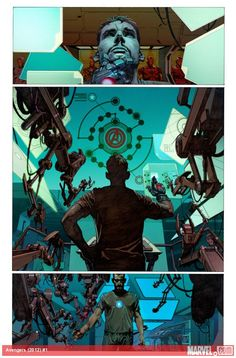 Avengers #1 preview art by Jerome Opena    http://marvel.com/news/story/19774/assembling_the_avengers_pt_1