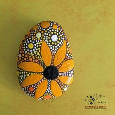Painted Rock Hand Painted Stone Rock Art by etherealandearth More