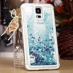 Samsung Galaxy Note 3 4 5 S7 edge S6 Dual Layer Plastic 3D Flowing Liquid Luxury Bling Glitter Sparkle Stars Case Cover