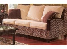 Rattan Sleeper Sofa - Kensington The Kensington rattan sleeper sofa is a quality piece you will be proud to display in your home. Rattan Sleeper Sofa: -Available in . Loveseat Sleeper Sofa, Queen Sofa Sleeper, Rattan Sofa, Cushions On Sofa, Dining Room Office, Office Chairs, Leather Futon, Outdoor Wicker Furniture, Sofa Furniture