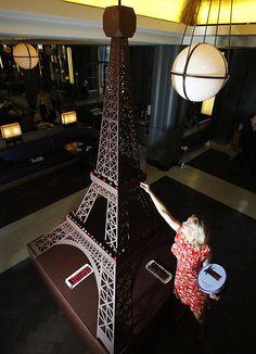 Eiffel Tower in chocolate
