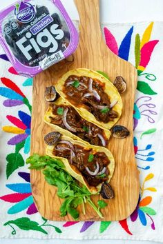 Treat yourself to the sweet and savory blend of fig and mole in your next batch of mushroom tacos. Photo credit: Dora