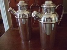 Pr. Of Unusual Size Cocktail Shakers