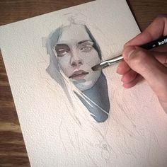 Small watercolor painting in progress #wip #workinprogress #inprogress #face #portrait #watercolor #painting #sketch #art #watercolorpainting #watercolorart #aquarelle #brushes #paper #miro_z #waterblog #cartel_watercolorists #arts_help #beautifulbizarre #drawingthesoul #artcomplex #artist_4_shoutout #onyxkawai