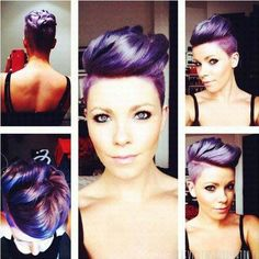 Purple mohawk..love the color...SOOOO wish I can pull this off!