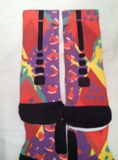 8d8a1a393ff28 Custom Nike Elite Basketball Socks Mardi Gras by LeagueReady
