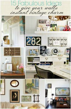 15 Fabulous Ideas To Give Your Walls Instant Vintage Charm-BHG Style Spotters