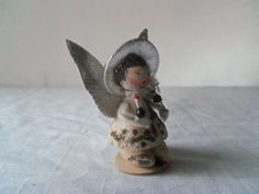 Vintage Christmas Spun Cotton Angel Foil Wings by berryetsy