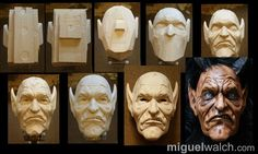 Miguel Walch wooden masks | Other Images: