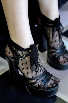 Little loving lace wraps cover your feet and wrap up your ankle to tie in a darling knot however you wish. Made in the USA.