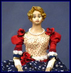 Vintage styled Americana Lady Liberty Doll now on e-Bay with a $60.00 starting bid....