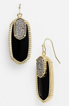Kendra Scott 'Dayton' Oval Stone & Drusy Drop Earrings available at #Nordstrom