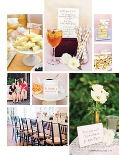 In the Press: INSIDE Weddings Winter 2011 Issue alyssa hooper tea party bridal shower