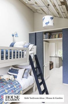 Home decor, unique ideas for children's bedrooms and playrooms Cool Kids Rooms, Oak Panels, Kids Bedroom, Bedroom Ideas, Childrens Bedroom, London House, Room Themes, Small Rooms, Bunk Beds