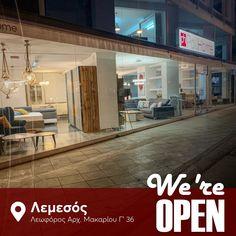 We are open! Από τη Δευτέρα 27 Μαϊου σας περιμένουμε στο νέο μας εκθεσιακό χώρο στη Λεμεσό, Αρχιεπισκόπου Μακαρίου Γ36!  Οδηγίες πρόσβασης και ωράριο λειτουργίας στο σύνδεσμο! Posts, Messages
