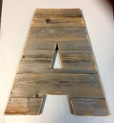 """Large Rustic Wood Letter 20"""" Tall Engrave Family Name Any Letter, Farmhouse, Cabin Industrial Decor, Barn Style"""