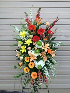 #sympathy spray #funeral flowers #tropical #floralcreations