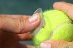 How to Make a Tennis Ball Holder: 9 Steps (with Pictures) Tennis Shop, Tennis Party, Tennis Clubs, Tennis Table, Tennis Ball Crafts, Tennis Decorations, Table Decorations, Tennis Quotes, Tennis Tips