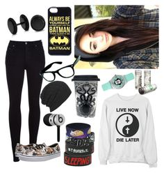 """What I would wear to see 5sos"" by bakemona13 ❤ liked on Polyvore featuring Citizens of Humanity, Vans, Bling Jewelry, Beats by Dr. Dre, AllSaints and Sourpuss"
