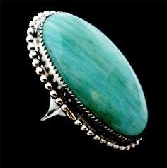Huge Sterling Silver Green Jade Size 6 Estate Signed LSP Co Ring Vintage | eBay